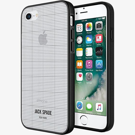 Estuche transparente con estampado para iPhone 7
