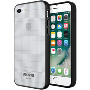 Estuche transparente con estampado para iPhone 7 - Color Graph Check/Transparente