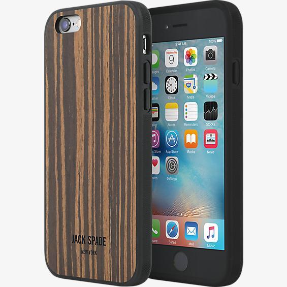 Estuche de madera para iPhone 6/6s - Ébano Macassar tipo enchapado de madera