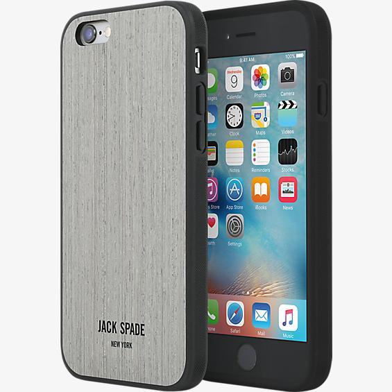 Estuche de madera para iPhone 6/6s - Roble plateado tipo enchapado de madera