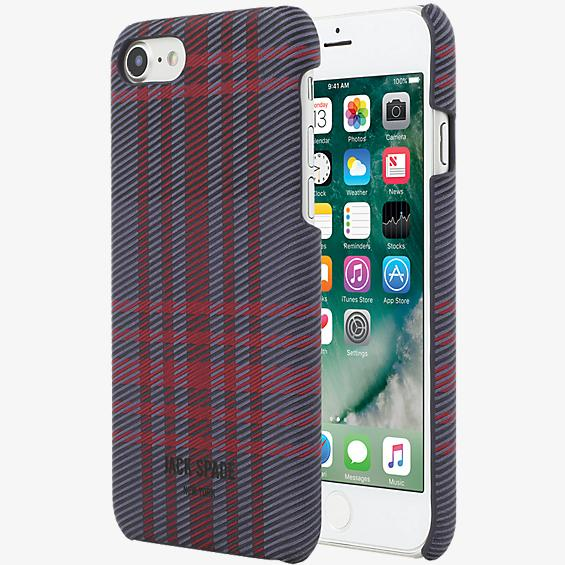 Estuche con cierre a presión para iPhone 7 - Color Holiday Plaid