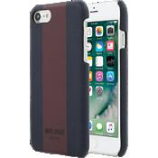 Estuche con cierre a presión para iPhone 7 - Rayas azul marino