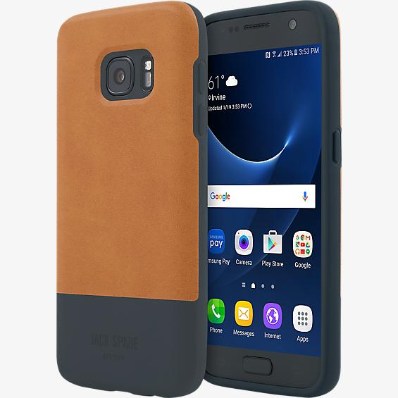 Estuche con bloques de color para Galaxy S7 - Color Fulton Tan/Azul marino
