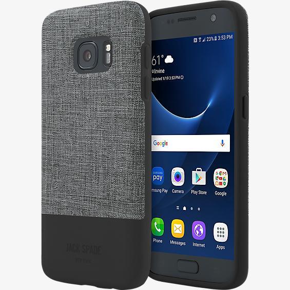 Estuche con bloques de color para Galaxy S7 - Color Tech Oxford Gray/Negro