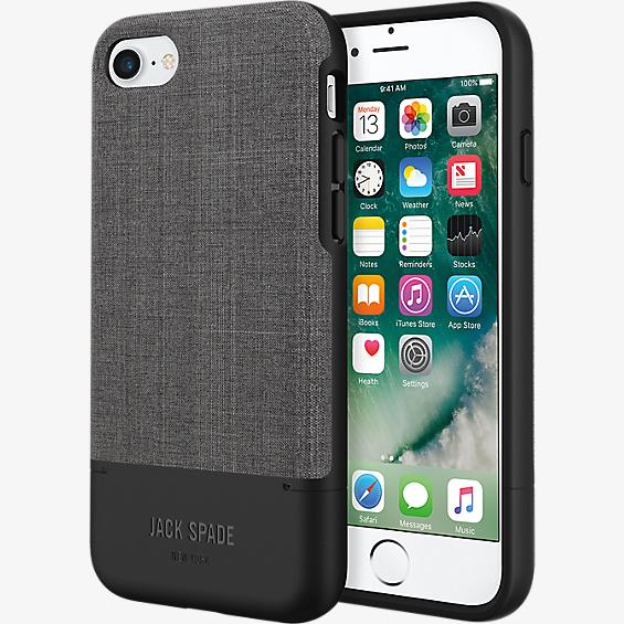 Estuche para tarjeta de crédito para iPhone 7 - Color Tech Oxford Gray/Negro
