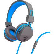 Audífonos externos Jbuddies Volume Safe con micrófono - Grafito/Azul