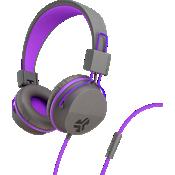 Audífonos externos Jbuddies Volume Safe con micrófono - Grafito/Púrpura