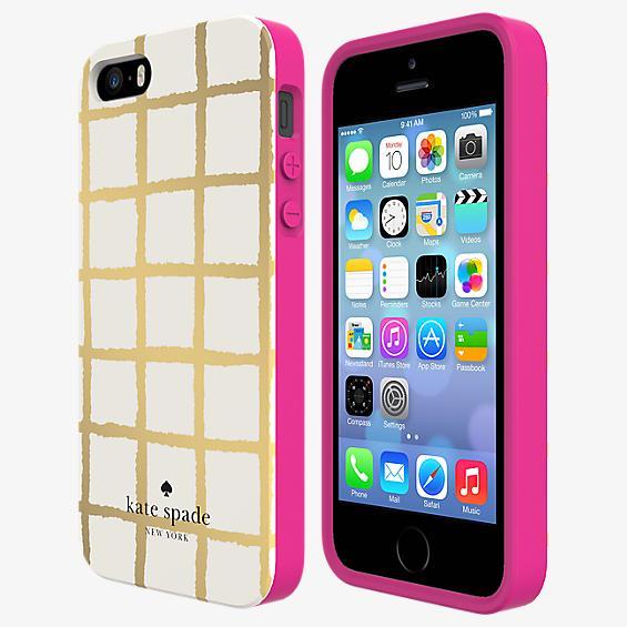 Estuche rígido flexible para iPhone 5/5s - A cuadros