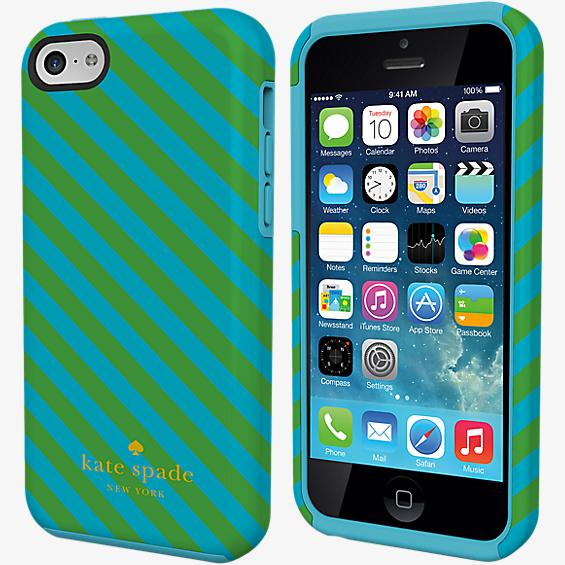Estuche de doble capa para iPhone 5c - Rayas en diagonal