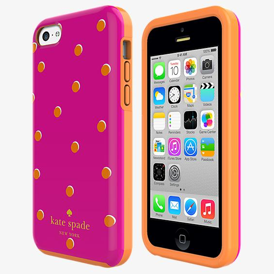 Estuche rígido flexible para iPhone 5c - Lunares Pavillion