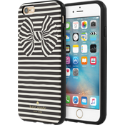Estuche rígido flexible para iPhone 6/6s - Color Painterly Bow Black Foil/Crema