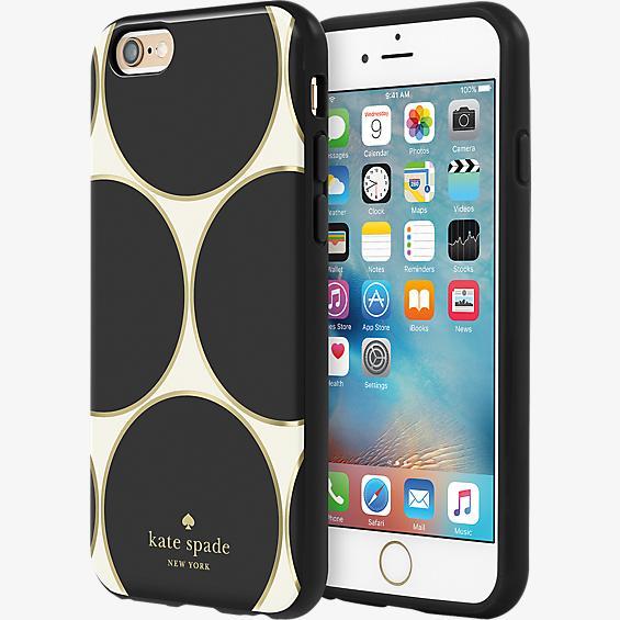 Estuche rígido flexible para iPhone 6/6s - Color Deborah Dot Cream/Negro/Gold Foil