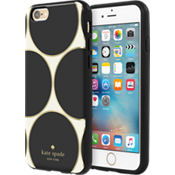Estuche rígido flexible para iPhone 6/6s - Color Deborah Dot Cream/Negro/Gold Foil