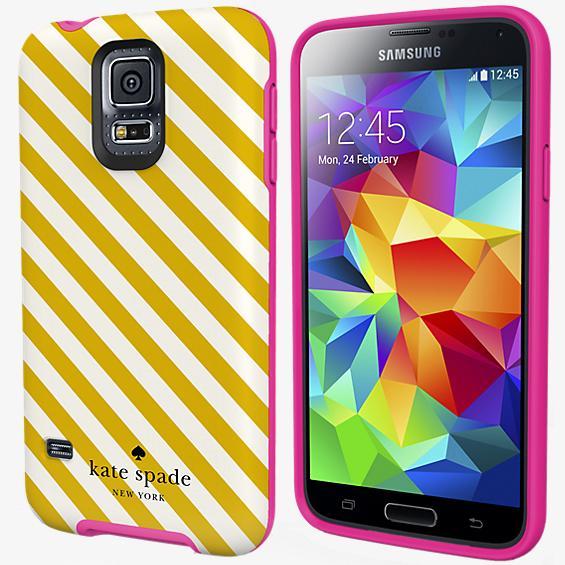 Estuche rígido flexible para Samsung Galaxy S 5 - Rayas en diagonal