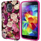 Estuche rígido flexible para Samsung Galaxy S 5 - Rosas fotográficas