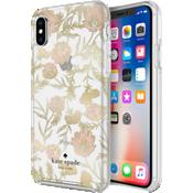 Carcasa dura para el iPhone XS/X - Rosa/Dorado