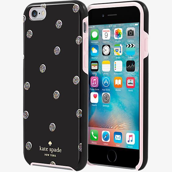 Estuche rígido híbrido para iPhone  6/6s - Lunares dispersos