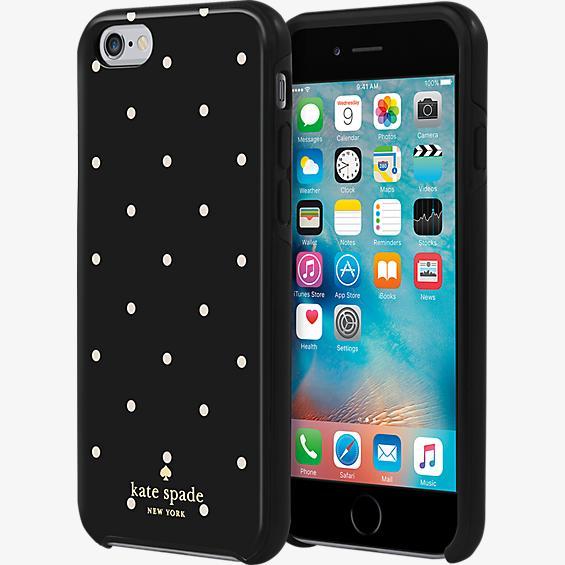 Estuche rígido híbrido para iPhone 6/6s - Lunares en relieve
