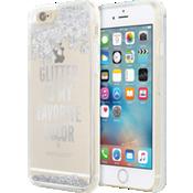 Estuche con líquido transparente y brillantes para iPhone 6/6s - Color Glitter is My Favorite Color (plateado)