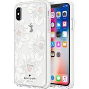Carcasa dura para el iPhone XS/X - Transparente con flores Hollyhock