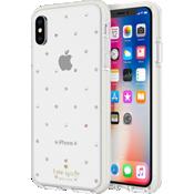 Carcasa dura para el iPhone XS/X - Gemas/perlas pequeñas/Trasparente