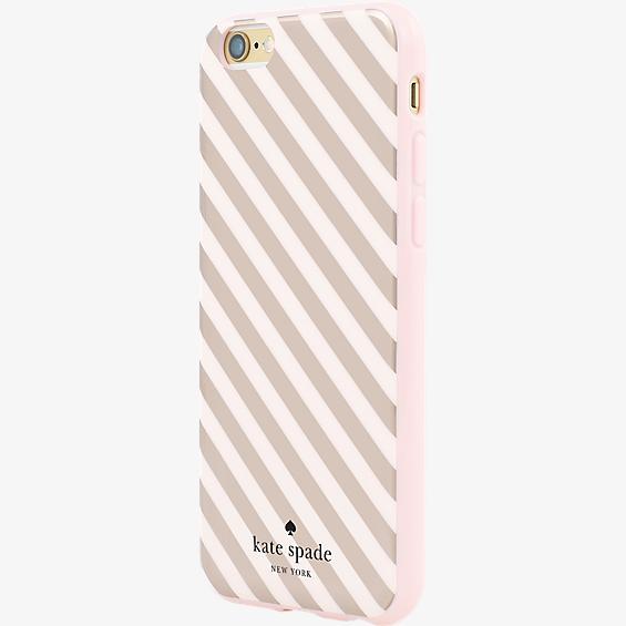 Estuche rígido flexible para iPhone 6/6s - Franja diagonal color Rose Gold