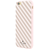 Estuche rígido flexible para iPhone 6/6s - Franja diagonal color oro rosa
