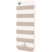 Estuche rígido flexible para iPhone 6 Plus/6s Plus - Rayas de colores y Rose Gold