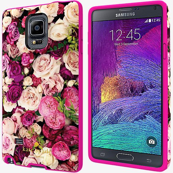 Estuche rígido flexible para Galaxy Note 4 - Rosa fotográfico