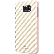 Estuche rígido flexible para Samsung Galaxy Note 5 - Franja diagonal dorada