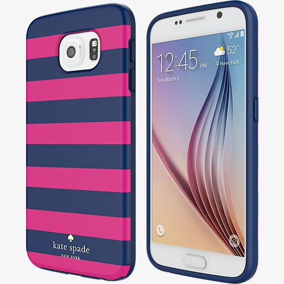Estuche rígido flexible para Samsung Galaxy S6 - Rayas de colores