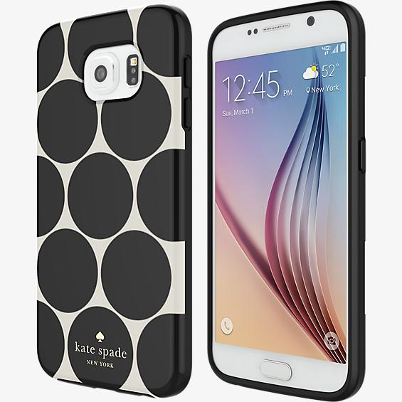 Estuche rígido flexible para Samsung Galaxy S6 - Lunares en relieve