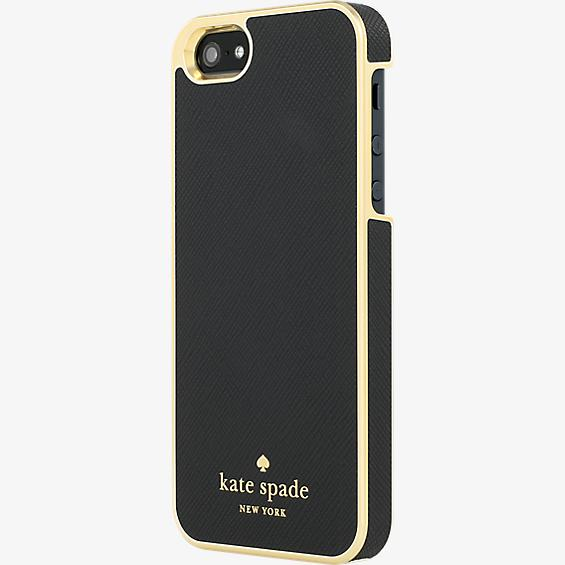 Estuche envolvente para iPhone SE - Color Saffiano Black
