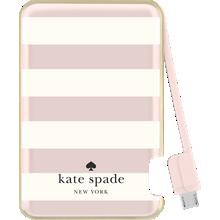 Batería delgada de 1500 mAh para aparatos MicroUSB - Candy Stripe, Cream Rose Gold Foil