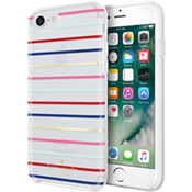 Estuche protector rígido para iPhone 7 - Color Surprise Stripe Gold/Multicolor
