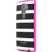 Estuche flexible para LG G4 - Rayas en negro/crema