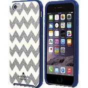 Estuche rígido flexible para iPhone 6/6s - Diseño en forma de V plateado brillante