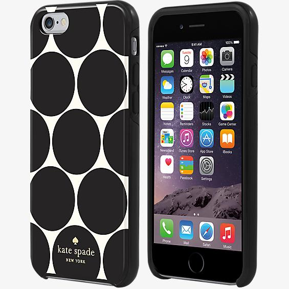 Estuche rígido flexible para iPhone 6/6s - Lunares negros extragrandes