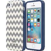 Estuche rígido flexible para iPhone SE - Color Chevron Multi Glitter/Crema