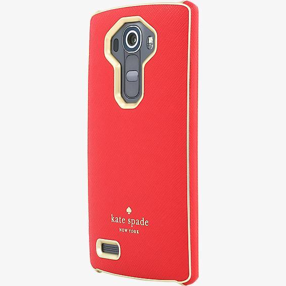 Estuche para LG G4 rojo/dorado
