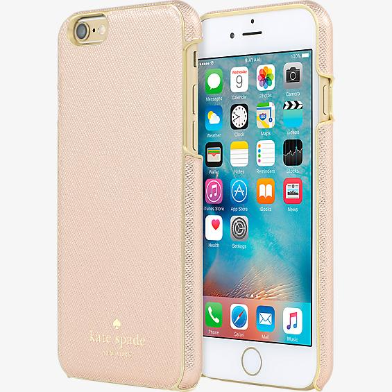 Estuche para iPhone 6/6s - Color Saffiano oro rosa