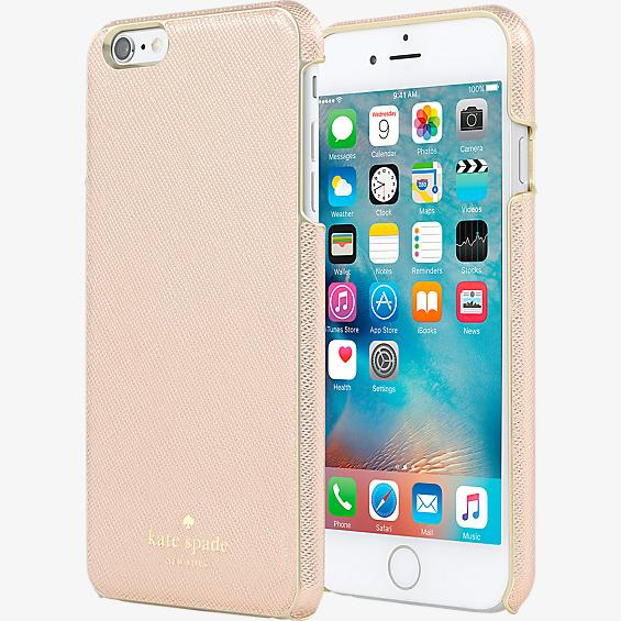 Estuche envolvente para iPhone 6 Plus/6s Plus - Color Saffiano oro rosa
