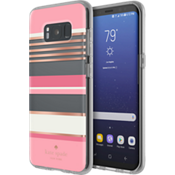 Estuche rígido flexible para Samsung Galaxy S8 - Color Berber Stripe Clear/Color Atlas Pink/Color Rose Gold Foil/Crema