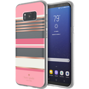 Estuche rígido flexible para Samsung Galaxy S8+ - Color Berber Stripe Clear/Color Atlas Pink/Color Rose Gold Foil/Crema