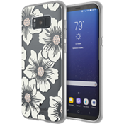 Estuche rígido flexible para Samsung Galaxy S8+ - Color Hollyhock Floral Clear/Color Cream with Stones