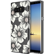 Estuche rígido flexible para Galaxy Note8 - Color Hollyhock Floral Clear