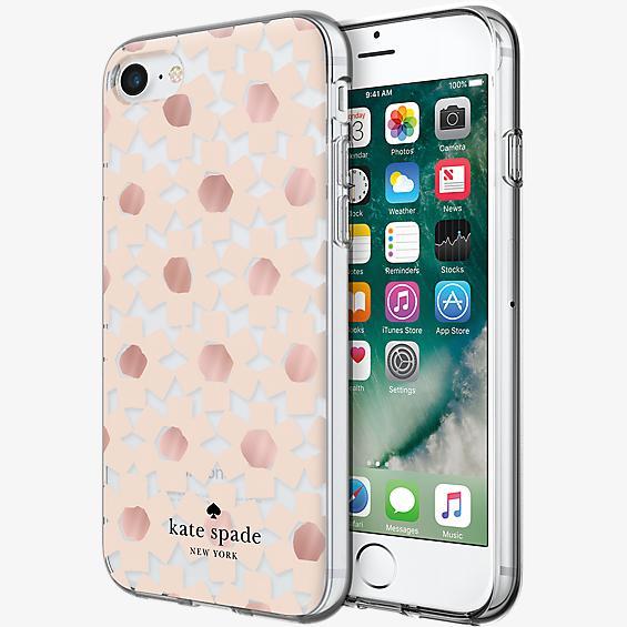 Estuche rígido flexible para iPhone 7 - Transparente floral