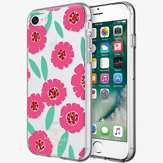 Estuche rígido flexible para iPhone 7 - Rosa floral