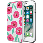 Estuche rígido flexible para iPhone 7 - Rosa floral