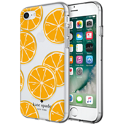 Estuche rígido flexible para iPhone 7 - Naranja